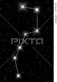 北斗七星 星座 背景 イラストのイラスト素材 Pixta