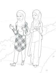 Ana Muslim Coloring Pages Coloring Pages Girl Coloring Pages