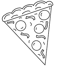 Small Picture Slice Pizza Coloring Page Cookie Pinterest Slice pizza