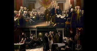 founding fathers painting founding fathers descendants unite 241 years later to re create