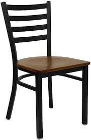 Wooden and metal chairs Light Wood Hercules Series Black Ladder Back Metal Restaurant Chair Cherry Wood Seat xudg694blad Amazoncom Amazoncom Hercules Series Black Ladder Back Metal Restaurant Chair