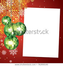 Blank Christmas Background Christmas Background Blank Paper Christmas Baubles Stock Vector