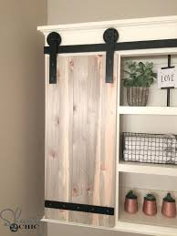 sliding farm door barn bathroom cabinet shanty 2 chic with inspirations kitchen cabinets sliding farm door