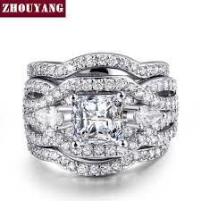 ZHOUYANG Wedding <b>Engagement</b> Ring For Women Luxurious ...