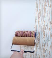 wood grain design patterned paint roller