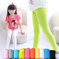 2019 Girls Leggings <b>Girl Pants New Arrive</b> Candy Color Toddler ...