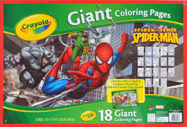 1977 the amazing spiderman a book of colors and days of the week golden press. Spider Man 18 Giant Coloring Pages Crayola In Comics Books The Magic Of Color Spiderfan Org