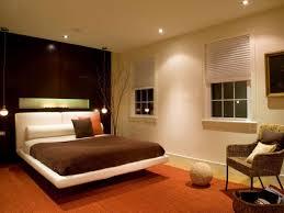 bedroom ball glass bulb hanging lamp bedroom ceiling lighting ideas brown head board wooden bed