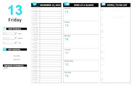 Day Planner Calendar Template