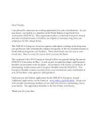 sample cover letter for caregiver cover letter sample  best