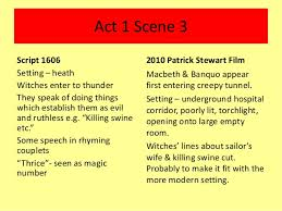 comparison of macbeth script film adaption 3