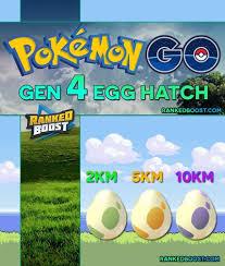 Pokemon Go Chart List Pokemon Go Generation 4 Egg Hatch List All Gen 4 Egg Pokemon