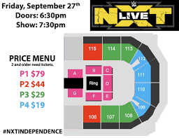 Nxt Seating Chart Wwe Presents Nxt Live Silverstein Eye Centers Arena