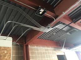 pipe in parking garage