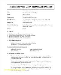 Restaurant Manager Resume Top Result Restaurant Assistant Manager