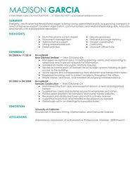 Salon Receptionist Resume Sample Salon Receptionist Resume