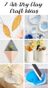 This is a collection of beautiful crafts that can be made from air dry clay,