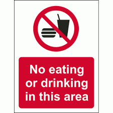 Sign Or This Drinking Eating No In Area