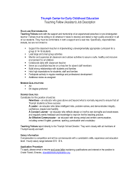 Agreeable Preschool Teacher Description Resume with top Preschool Teacher  Job Description