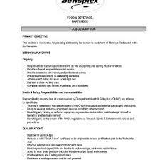Sample Resume With Job Description For Waiter Best Sample Resume ...