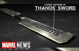 A leaked artwork of Thanos' new sword ...