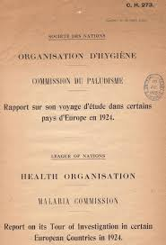 malaria commission of the health organisation the james  malaria cho 1925 tp