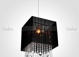 new black drum crystal flush mount pendant lighting