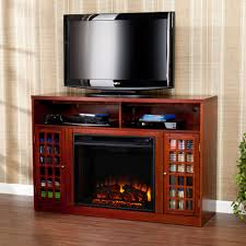 details about mfp30039 mahogany 2 doors t v console electric fireplace with remote