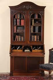 victorian 1860 antique walnut secretary desk bookcase
