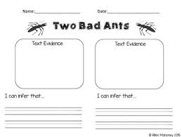 Two Bad Ants Inferencing Worksheets Teaching Resources Tpt