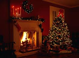 Image result for a christmas fireplace