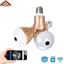 Senarai Harga Bulb Lamp Wireless Ip Camera Wifi 1080p Panoramic 360