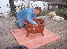 Please Don R Burn Your Deck Down We Often Put Fire Pits On The Deck That Is A No No Unless You Know Wha Deck Fire Pit Fire Pit On Wood Deck