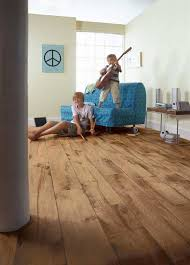 a room with high traffic in the home such as hallways living rooms and the kitchen area are best suited with a resilient finish in either in a ceramic tile
