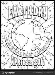Dag Van De Aarde Kleurplaat Pagina Kaart Of Banner Ontwerp In De