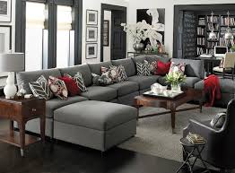 living room furniture ideas sectional. Living Room Ideas : Sectional Furniture Beckham U Shaped By Bassett Contemporary Gre Color Theme Elegant