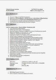 Sap Basis Resume Smlf Resume Sap Basis Resume Format Sap