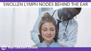 swollen lymph nodes behind the earfree