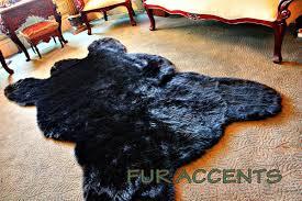 Faux Bearskin Rug Amazoncom Fur Accents Classic Black Bear Skin Area Rug Faux Fur