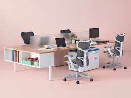 studio office furniture. Mirra 2 Office Chairs With Gray Backs And White Frames At A Layout Studio Bench Furniture