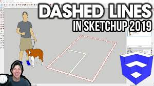 Also use the eraser tool to clean up the waste lines for the knuckle shape. Dashed Lines In Sketchup 2019 Complete Tutorial Youtube