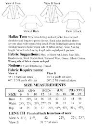 What Is The Pattern Of A Haiku Simple Sewing Workshop Collection Haiku Two Jacket Pattern Shirts Vests