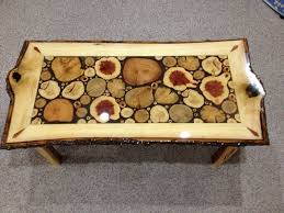 Log Crafts Sliced Log Coffee Table Coffee Table Decoration