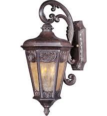 maxim lighting 40173nscu lexington colonial umber 2 light outdoor wall mount