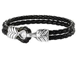 david yurman sterling silver leather bracelet