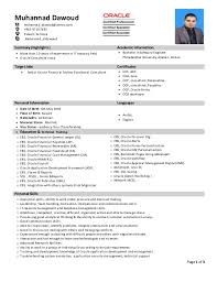 Cv Senior Oracle Financial Hrms Techno Functional Consultant
