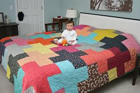 King Size Quilt Patterns Adorable FITF A Giant Plus Quilt For The Bed Film In The Fridge