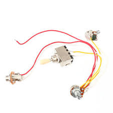 1v1t 3way toggle switch wiring harness prewired for lp guitar image is loading 1v1t 3way toggle switch wiring harness prewired for