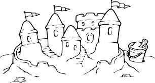 Coloriage Chateau De Sable Sur Une Plage Imprimer Sur Coloriages