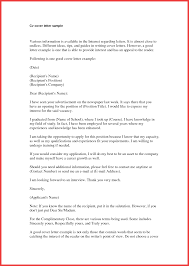 Cover Letter Template Email Memo Example